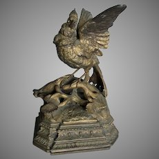 Antique Circa 1880s Sculpture of a Bird, Victorian