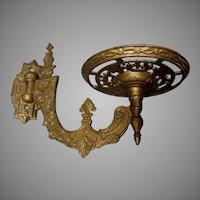 Antique Circa 1877 Cast Iron Oil Lamp, Plant Bracket