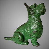 Antique Art Deco Scottish Terrier Doorstop, Spencer, Cast Iron