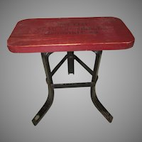 Vintage Advertising Stool, The Tribune Newspaper, Clintonville, Wisconsin