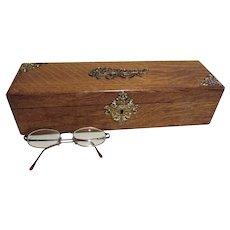 Lovely Antique c1880s Victorian Oak Vanity Box for Gloves