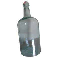Big Primitive 19th Century Antique Bottle with Raised Dots, Poison