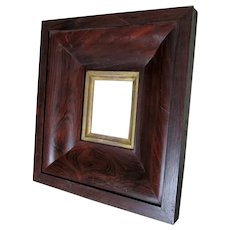 Fine Antique Circa 1840s Rosewood Picture Frame for Miniature Painting