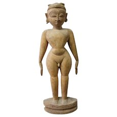 Fine Old Ethnographic Hand Carved Seasia Figure of a Deity or God