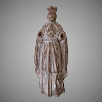 Antique Hand Carved Spanish Santos, Christianity, Folk Art