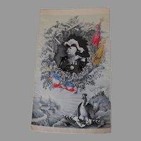 Antique French Silk Stevensgraph, Military Marshal Joseph Joffre, Tapestry