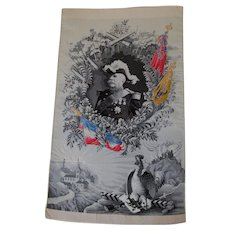 Antique French Silk Stevensgraph, Military Marshal Joseph Joffre, Tapestry
