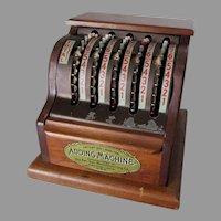 Circa 1928 Kal San Adding Machine, Desk Calculator, Office Accessory
