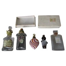 Antique Perfume Bottles, Golliwog, Lilac, Venetian, Rice's, etc