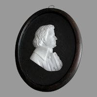 Antique Marble Sculpture of Wolfgang Mozart, Music Composer