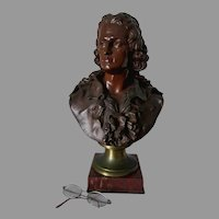 Antique c1880s Bust of Johann Friedrich von Schiller by Emile Pinedo