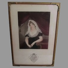 Lovely Antique c1800 Print of Margaret Smith Burges, Countess of Poulett
