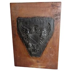 Hand Carved Wood Mold, Americana, Bald Eagle, Architectural