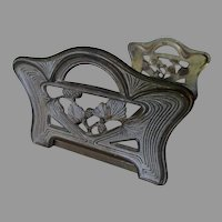 Antique Arts & Crafts Expanding Bookends with Pine Cone Motif