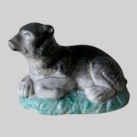 Rare Antique c1860s Staffordshire, Conte Bear Figurine, Porcelain Toy, Figurine
