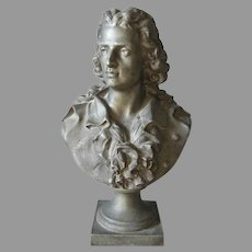Antique Bust of Music Composer, Johann Friedrich von Schiller
