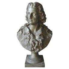 Antique Bust of Music Composer, Johann Friedrich von Schiller