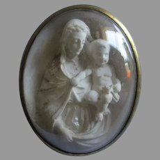 Antique Grand Tour Miniature Hand Carved Madonna & Child