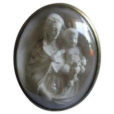 Antique Grand Tour Miniature Hand Carved Madonna & Child