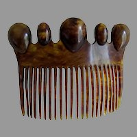 Lovely 19thC Ladies Victorian Hair Comb, Hair Fashion Accessory
