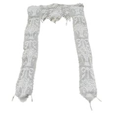 Lovely Hand Crocheted Portiere, Curtain with Flower Baskets