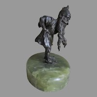 Antique Gnome or Elf Paperweight, Desk Accessory