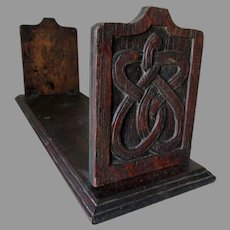 Antique Arts & Crafts, Mission Oak Bookends, Hand Carved