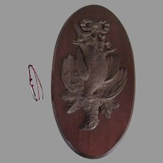 Antique Circa 1880s Game Bird Plaque, Sporting, Hunting