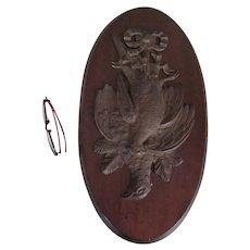 Antique Circa 1880s Game Bird Plaque, Sporting, Hunting