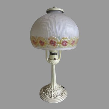 Pretty Antique Alladdin Art Deco, Art Nouveau Table Lamp