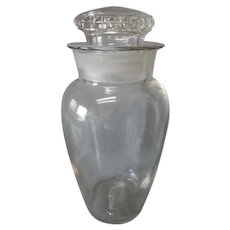 Antique Advertising Pomona Candy Jar, Blown Glass Apothecary Drug Store