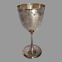 Antique c1876 Aberdeen Scotland Knights Templar Commemorative Goblet