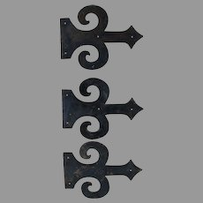 Antique Architectural Door Hardware, Faux Gothic Hinges