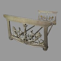 Antique Art Nouveau Expanding Bookends with Cornucopia