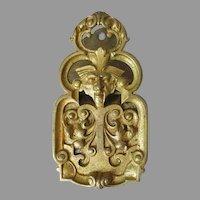 Antique Bronze Gargoyle Face Memo Holder, Paperclip, Desk Accessory
