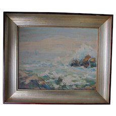Impressionistic Seascape Oil Painting, Broughton, Woodstock, NY