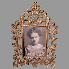 Lovely Antique Victorian Picture Frame, Vanity Mirror