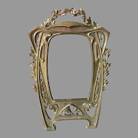 Antique Art Nouveau Picture Frame with Laurel Leaf Motif