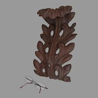 Antique Acanthus Leaf Architectural Element, Cast Iron