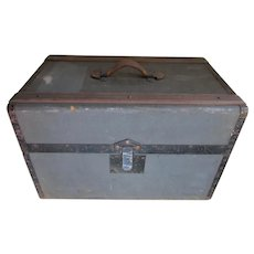 Antique Personal Military or Fraternal Trunk, M C Lilley & Co