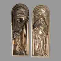 Antique Bronze, Miniature Grotto Sculptures of Men, Apostles