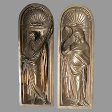 Antique Bronze, Miniature Grotto Sculptures of Men, Apostles