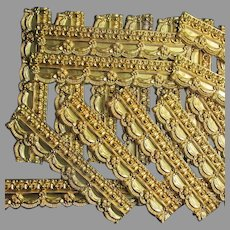 Antique c1870s Gilt, Gilded Brass Architectural Molding with Tassel Motif
