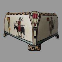 Rare Antique Nippon Egypt Motif Vase, Planter, Egyptian Revival