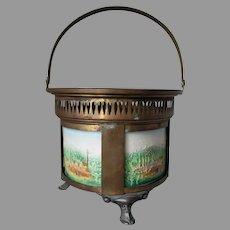 Antique Circa 1890s Lithophane Tea Warmer, Lithopane Scenes