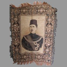 Antique Middle Eastern Tapestry of a Shah, Military, Political