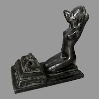 Antique Art Nouveau, Art Deco, Nude Lady Incense Burner