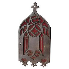 Antique English Gothic Door Escutcheon from Church in England