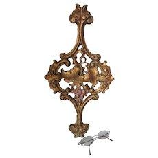 Antique Art Nouveau Cast Iron Architectural Element with Grape Motif