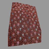 Rare Unused c1920s Flocked Velvet Upholstery Fabric